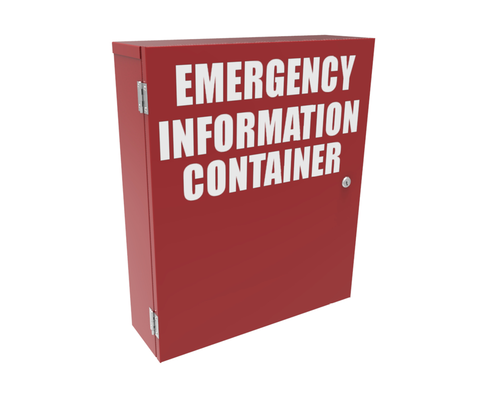 Hazmat Emergency Information Cabinet